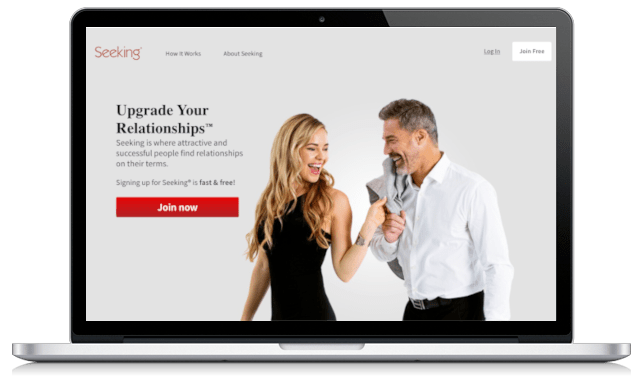 Seeking.com Home page